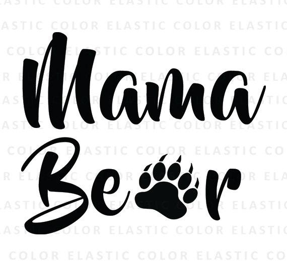 Mama bear clipart banner royalty free download Mama bear svg mama bear cut file mama bear text mama banner royalty free download