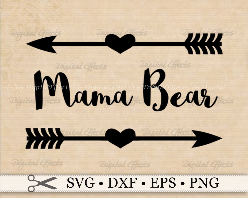 Mama bear clipart freeuse Mama bear svg | Etsy freeuse