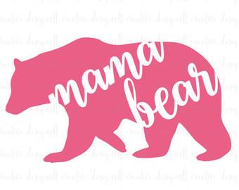 Mama bear clipart svg free library Mama bear svg – Etsy svg free library