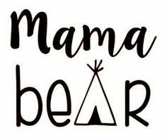 Mama bear clipart jpg transparent stock Mama Bear iron on vinyl transfer for shirt,bag, etc | Vinyls, Bags ... jpg transparent stock