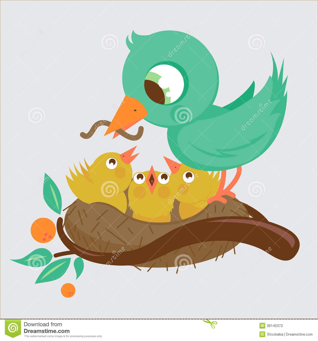 Mama bird clip art graphic royalty free stock Mama bird clip art - ClipartFest graphic royalty free stock
