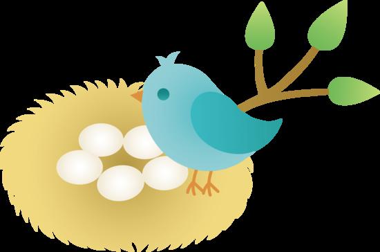 Mama bird clip art picture black and white download Clipart bird nest - ClipartFest picture black and white download