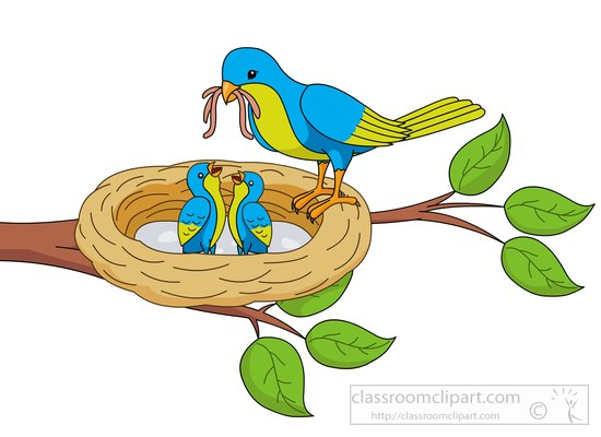 Mama bird clip art transparent Mother bird clipart - ClipartFest transparent