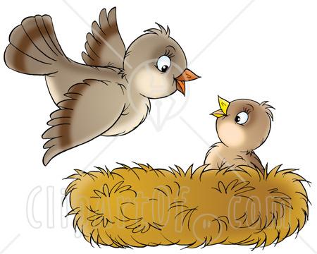 Mama bird clip art clip download Mom And Baby Bird Clipart - Clipart Kid clip download