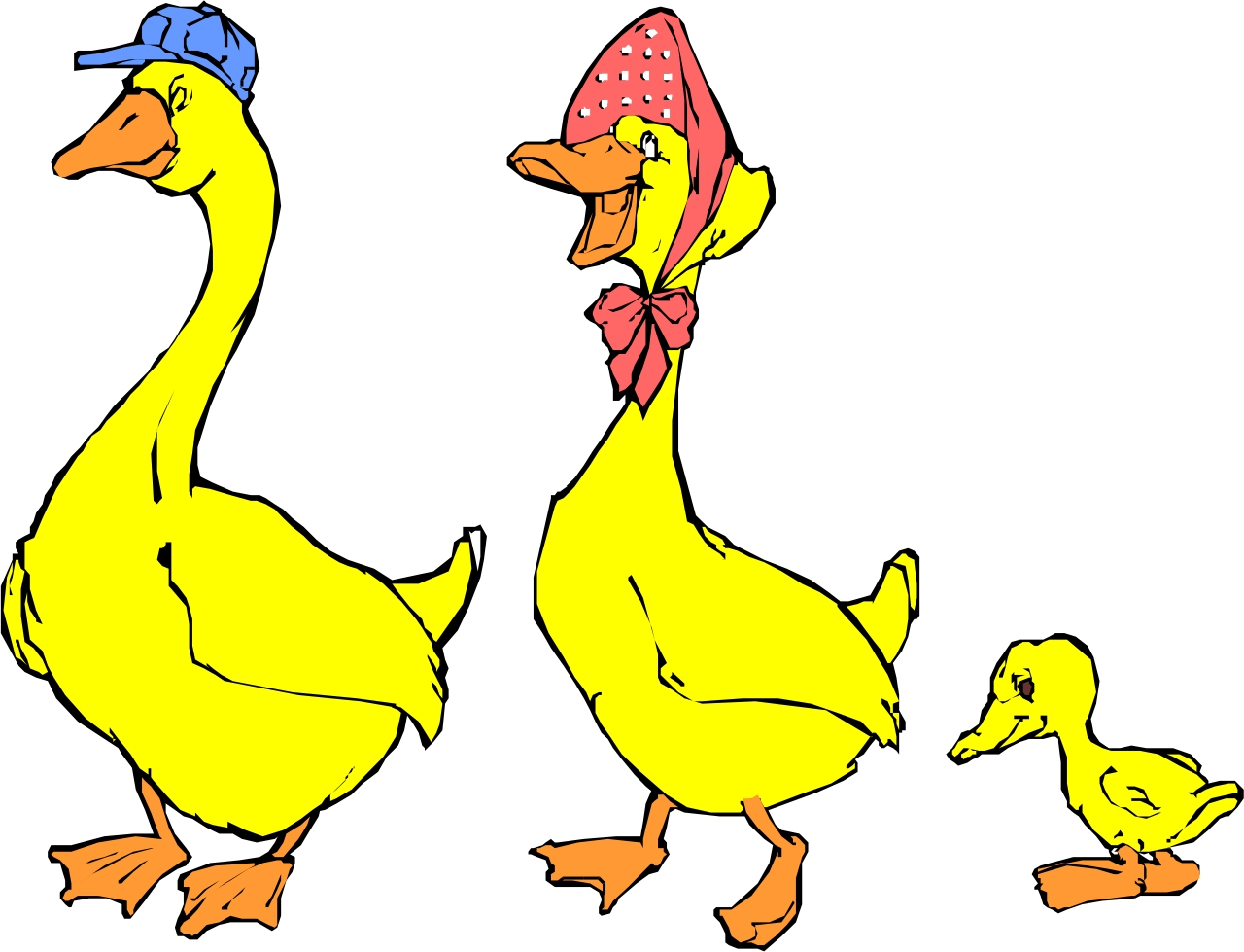 Mama duck clipart vector library library Mother duck clipart - ClipartFest vector library library