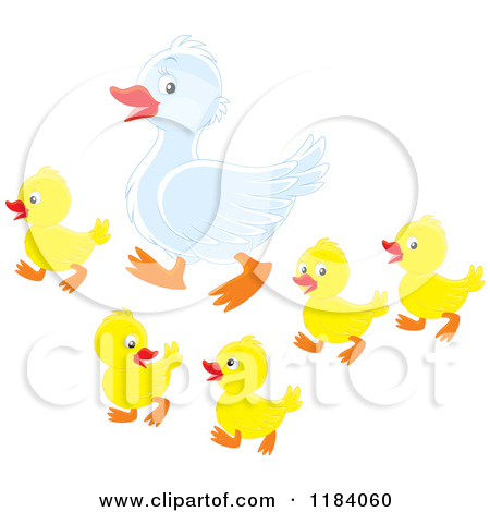 Mama duck clipart vector royalty free stock Royalty-Free (RF) Mother Duck Clipart, Illustrations, Vector ... vector royalty free stock