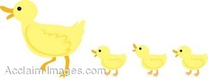 Mama duck clipart banner free library Mama Duck with Her Babies Clip Art banner free library