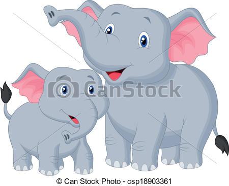 Mama elephant clipart vector transparent library Baby elephant Clip Art Vector Graphics. 4,007 Baby elephant EPS ... vector transparent library