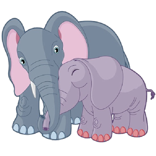 Mama elephant clipart vector black and white Elephant - Cartoon Picture Images vector black and white