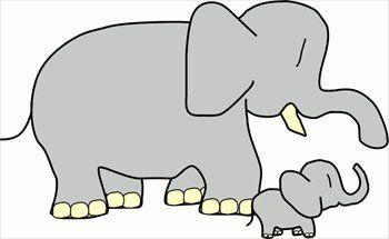 Mama elephant clipart png transparent stock Elephant Clip Art | Free baby-elephant-w-mother Clipart | baby ... png transparent stock