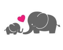 Mama elephant clipart image freeuse library Mother And Baby Elephant Clipart - clipartsgram.com image freeuse library
