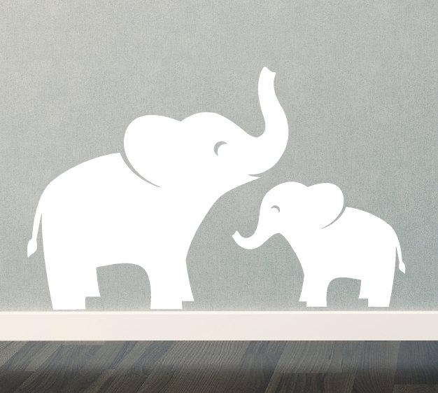Mama elephant clipart jpg black and white download Mommy and baby elephant clipart - ClipartFox jpg black and white download