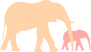Mama elephant clipart graphic free library Free Baby Elephant Clip Art Pictures - Clipartix graphic free library