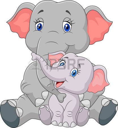 Mama elephant clipart picture freeuse download 574 Mother Elephant Stock Vector Illustration And Royalty Free ... picture freeuse download