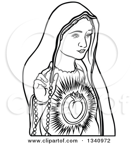 Mama mary clipart banner free library Royalty-Free (RF) Virgin Mary Clipart, Illustrations, Vector ... banner free library