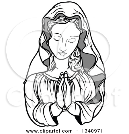 Mama mary clipart picture free Royalty-Free (RF) Virgin Mary Clipart, Illustrations, Vector ... picture free
