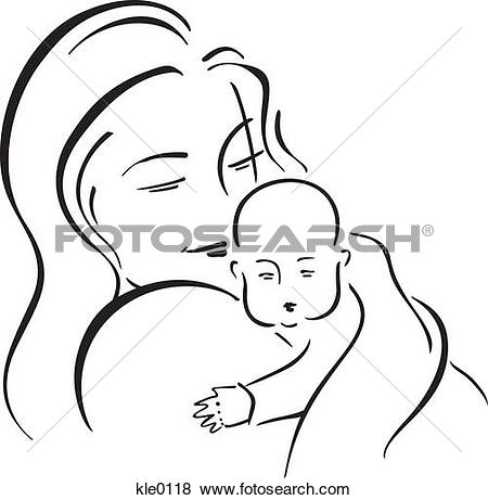 Mama mit baby clipart clipart royalty free stock Stock Illustration of A woman holding her baby and burping him ... clipart royalty free stock
