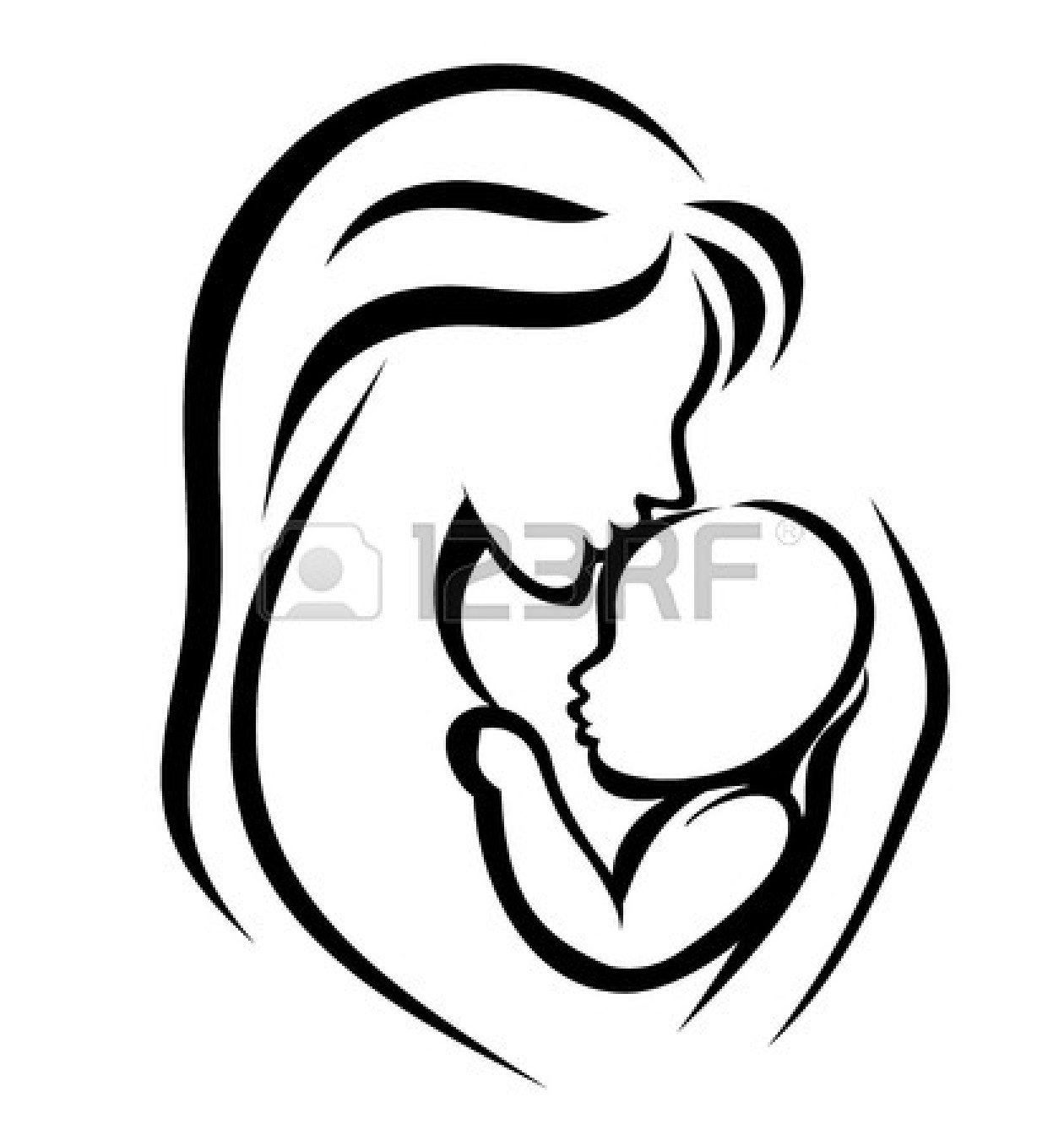 Mama mit baby clipart image freeuse stock Mother giving away baby clipart - ClipartFox image freeuse stock
