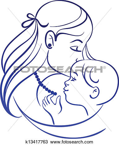 Mama mit baby clipart graphic library stock Clip Art of Motherhood set. Silhouettes of mother and baby ... graphic library stock