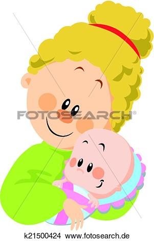 Mama und baby clipart vector transparent stock Clipart - mama, und, baby k21500424 - Suche Clip Art, Illustration ... vector transparent stock