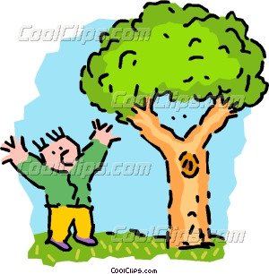 Man and nature clipart