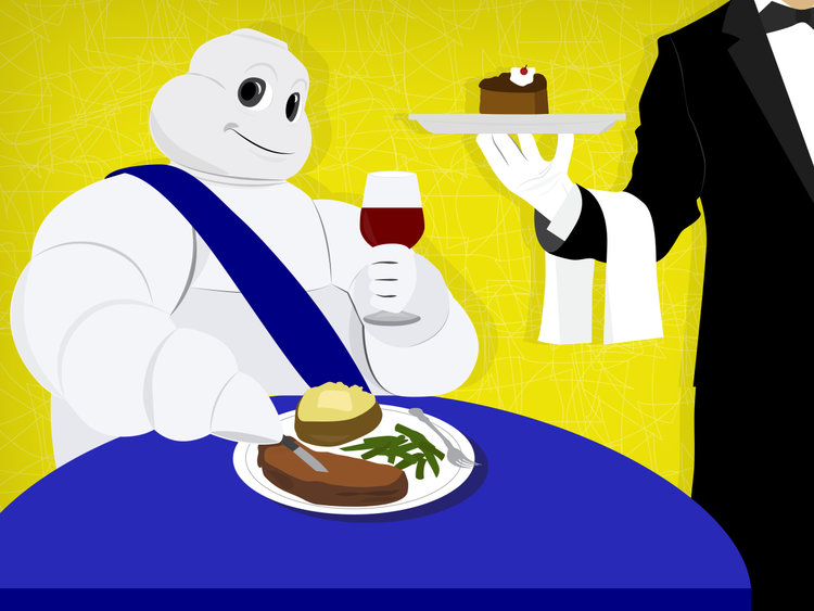 Man and woman at fine restaurant clipart png freeuse library History of the Michelin Guide - Business Insider png freeuse library