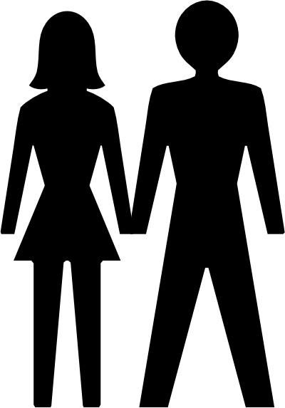Ladies man clipart png library download Man And Woman Icon clip art Free vector in Open office drawing svg ... png library download