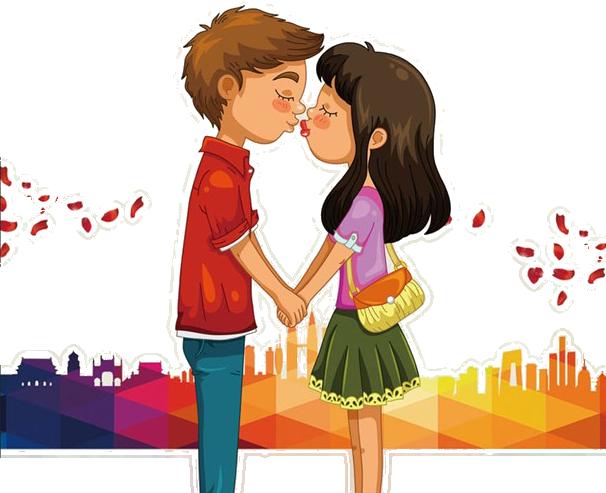 Man and woman kissing clipart vector library download Kiss Cartoon Clip art - Kissing men and women png download - 606*493 ... vector library download