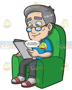 Man and woman sitting on sofa clipart png royalty free stock A Mature Man Sits On A Sofa Lounger While Reading A Newspaper png royalty free stock