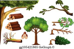 Cutting Tree Clip Art - Royalty Free - GoGraph svg black and white library