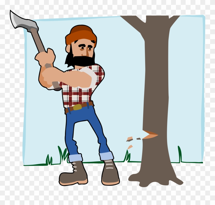 Woodcutter clipart png clipart library download Lumberjack Axe Wood Free Commercial Clipart - Man Cutting Tree ... clipart library download