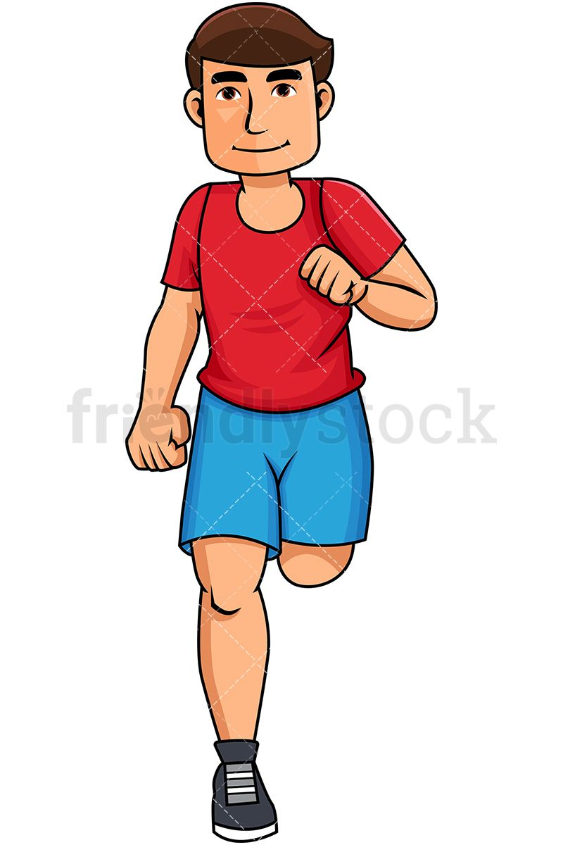 Younger man clipart clip art library Young Man Jogging For Exercise | Working Out Clipart in 2019 | Free ... clip art library