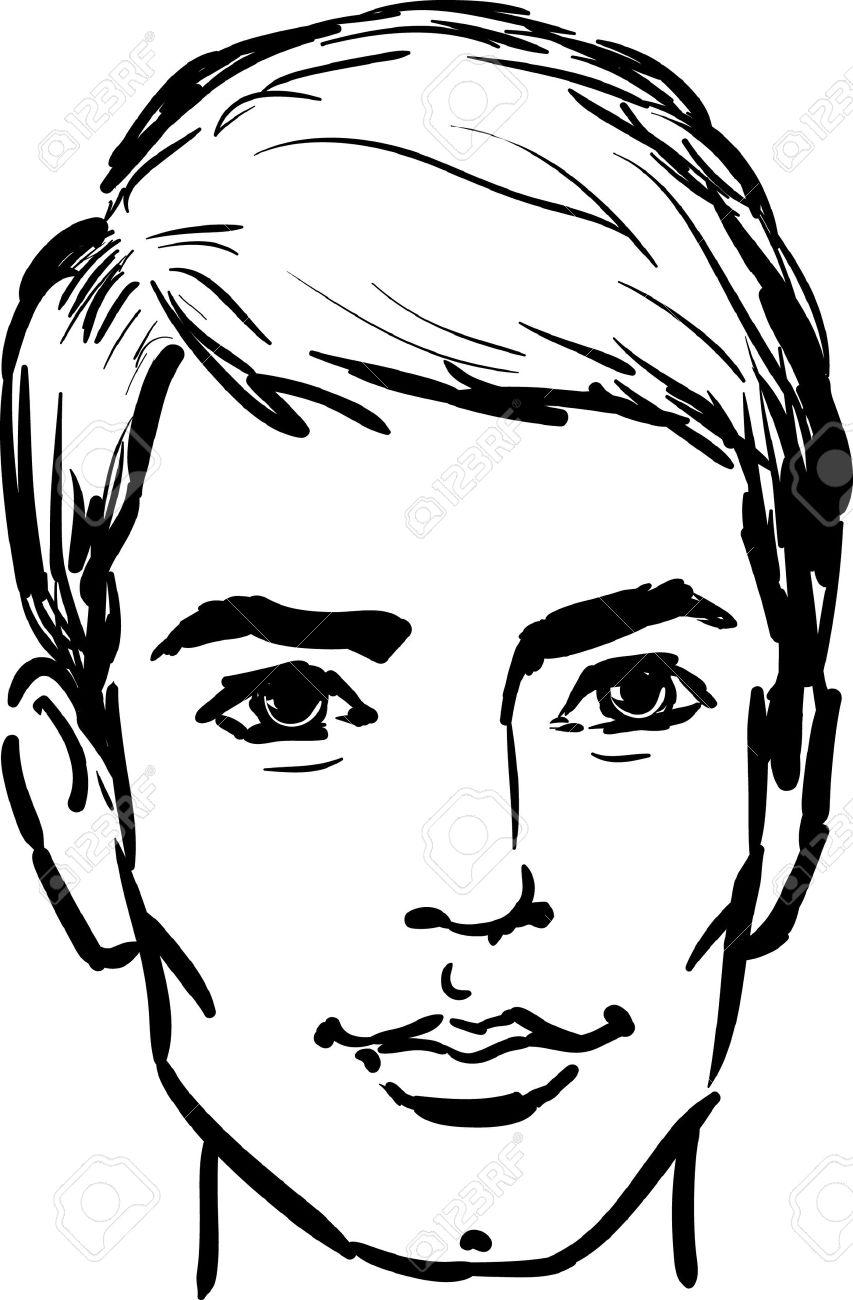 Man face clipart jpg transparent stock Man face clipart black and white » Clipart Station jpg transparent stock