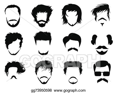 Man hairstyle clipart vector black and white download Vector Art - Man hairstyle vector. Clipart Drawing gg73950598 - GoGraph vector black and white download