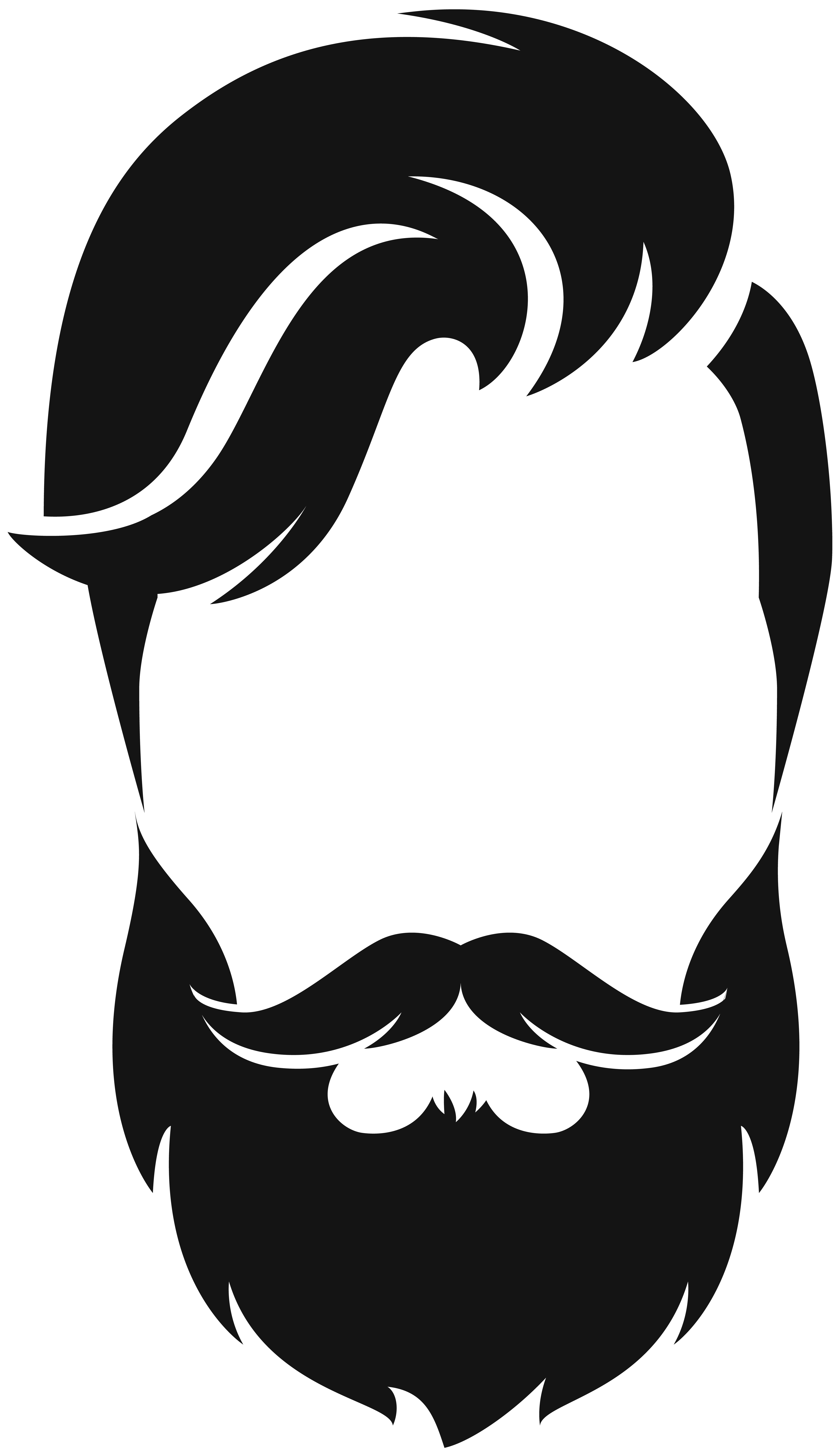 Library Of Man Hairstyle Banner Black And White Stock Png