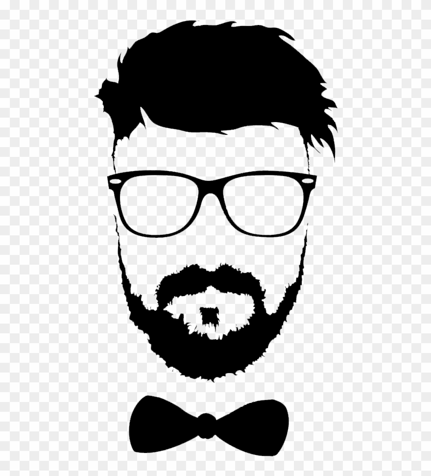 Man hairstyle clipart freeuse stock Hairstyle Beard Moustache Glasses Png File Hd Clipart - Mustache And ... freeuse stock