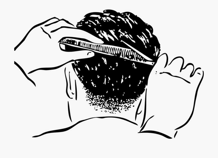 Man hairstyle clipart jpg black and white library Haircut Man Barber Hair Style Styling Cuttin - Hair Cutting Clipart ... jpg black and white library