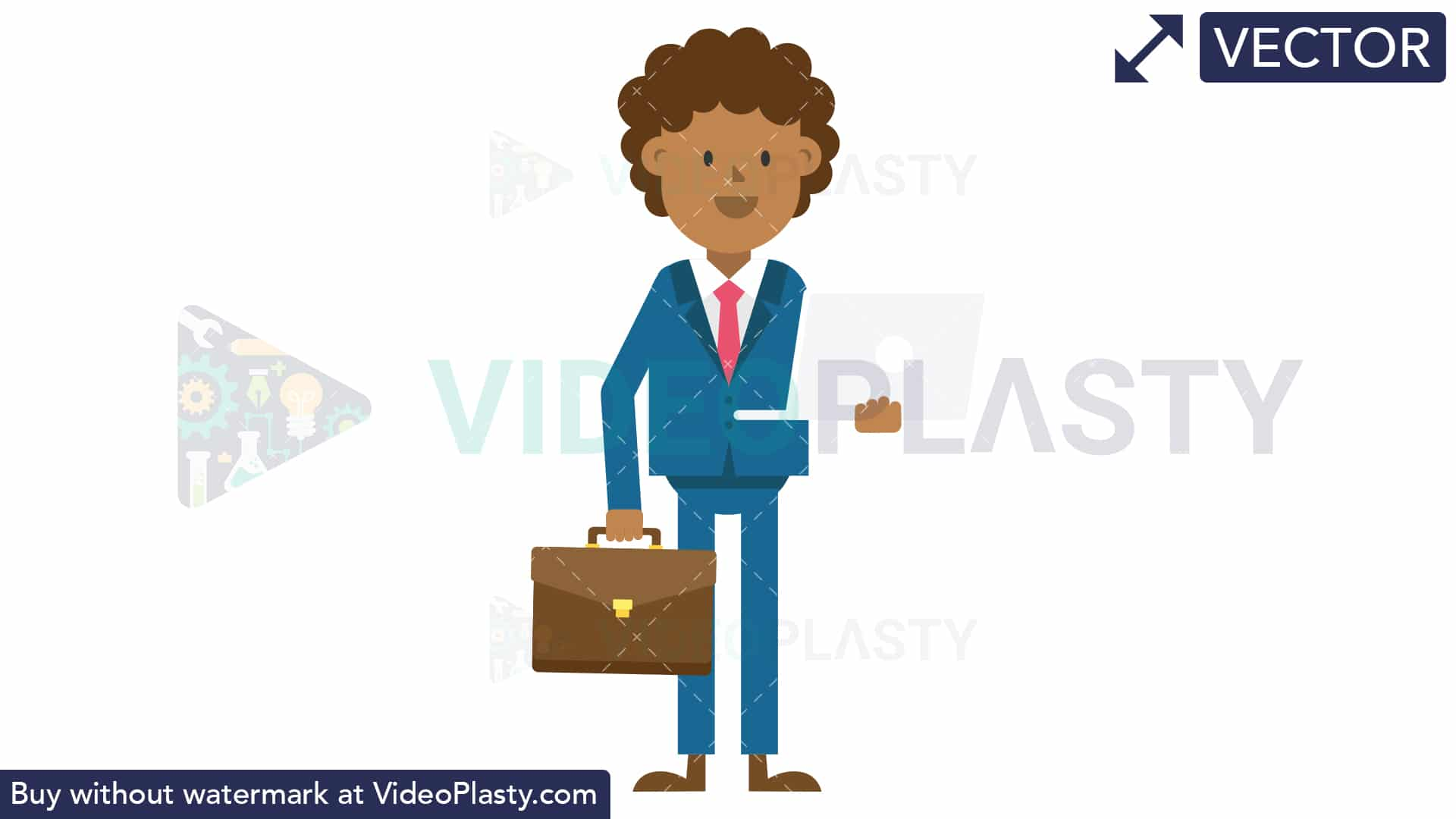 Man holding tie in hand clipart transparent download Black Corporate Man Holding a Laptop and Suitcase [VECTOR] transparent download