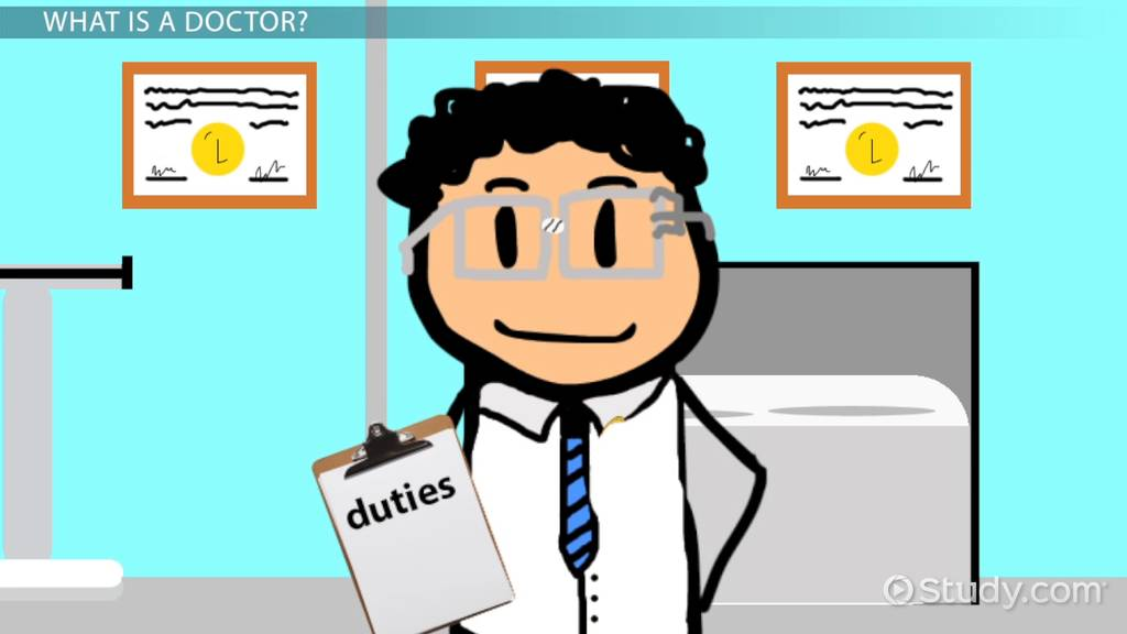 Man in hospital says no thank you clipart graphic free stock What Does a Doctor Do? - Lesson for Kids - Video & Lesson Transcript ... graphic free stock