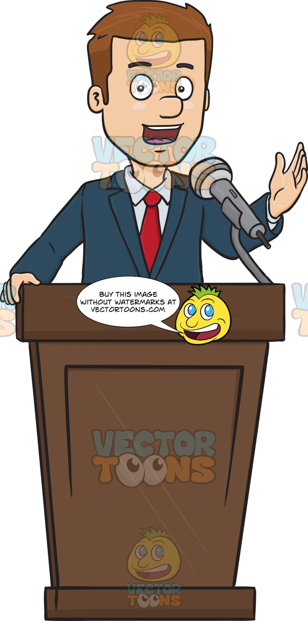 Speech podium clipart clip art freeuse library A Man In A Suit Standing Behind A Podium Giving A Speech clip art freeuse library