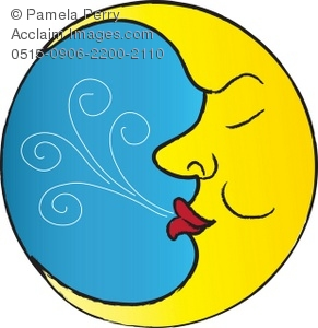 Man in the moon clipart svg royalty free library Clip Art Illustration of The Man in the Moon Sleeping svg royalty free library