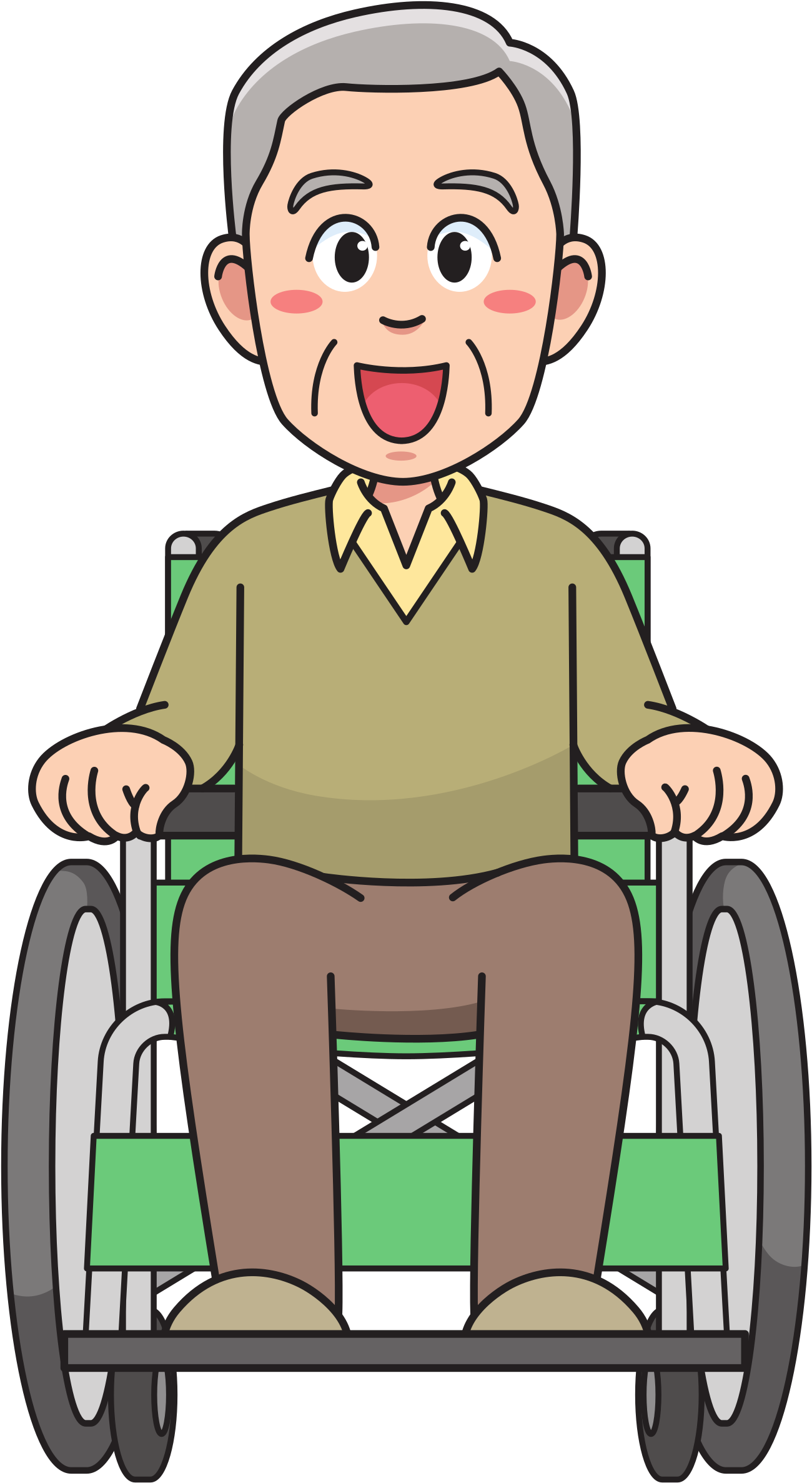 Man in wheelchair clipart image free stock HD Picture Free Download Grandfather Clipart Boy - Man In Wheelchair ... image free stock