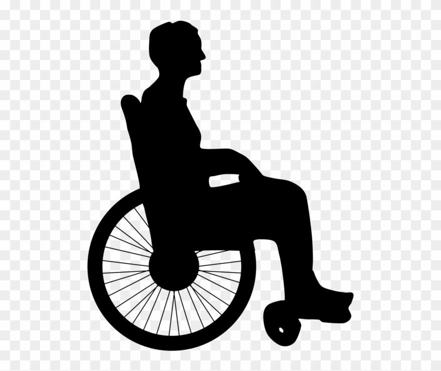 Man in wheelchair clipart banner freeuse Wheelchair Disability Silhouette Man Old Age - Old Woman In Wheel ... banner freeuse