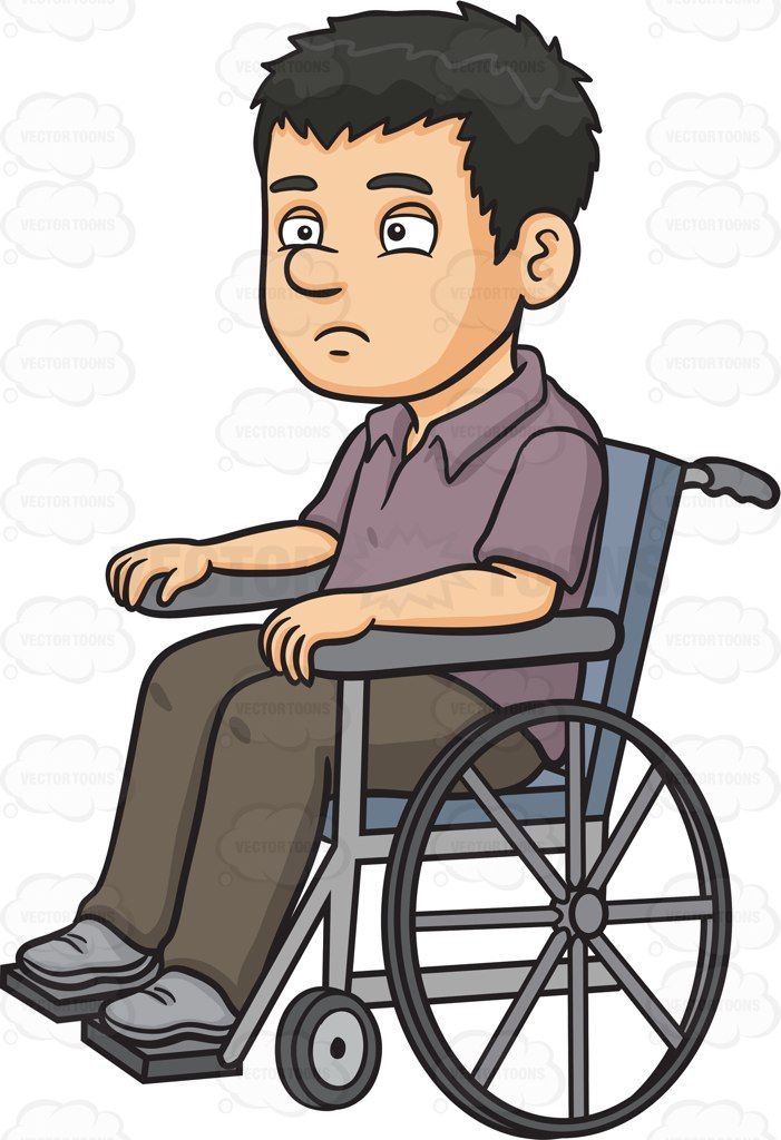 Man in wheelchair clipart svg download A disoriented man in a wheelchair #cartoon #clipart #vector ... svg download