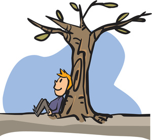 Man is compared to a tree clipart image library stock Man Sitting Under a Tree Clipart | Garden Clipart image library stock