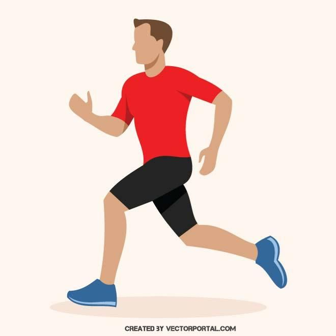 Man jogging in a park with headphones clipart jpg library download Vector image of a runner. | Various vectors | Running vector ... jpg library download
