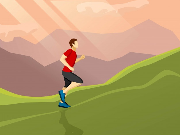 Man jogging in a park with headphones clipart graphic royalty free download Jogging Vectors, Photos and PSD files | Free Download graphic royalty free download