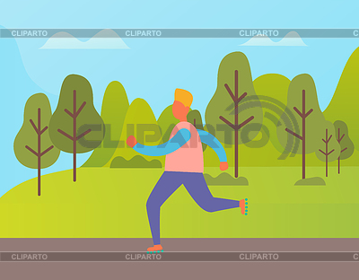 Man jogging in a park with headphones clipart picture transparent download Jogging | Stock Photos and Vektor EPS Clipart | CLIPARTO picture transparent download