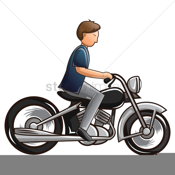 Man on motorcycle clipart image black and white Man Riding Motorcycle Clipart Free Images At Clker Com Vector Expert ... image black and white