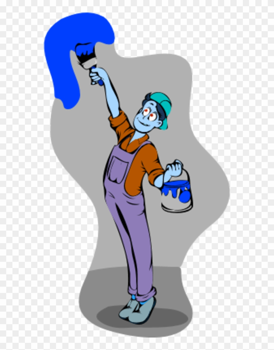 Man painting wall clipart